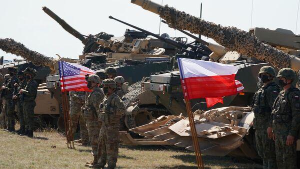 Poljske i američke trupe na zajedničkoj vojnoj vežbi u Poljskoj - Sputnik Srbija