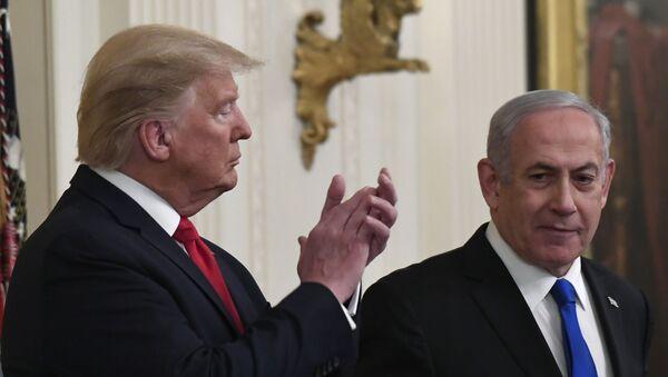 Амерички председник Доналд Трамп и израелски премијер Бењамин Нетанијаху - Sputnik Србија