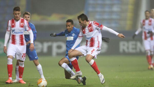 Milan Gajić, fudbaler Crvene zvezde, tokom utakmice protiv Libereca - Sputnik Srbija