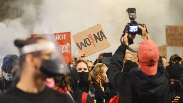 Protest u Poljskoj zbog zakona o abortusu - Sputnik Srbija
