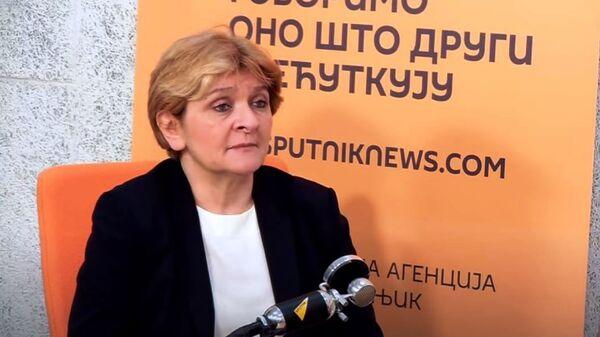 Prof. dr Danica Grujičić - Sputnik Srbija