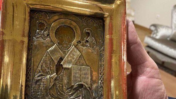 Додик поклонио Лаврову икону у позлати стару 300 година - Sputnik Србија