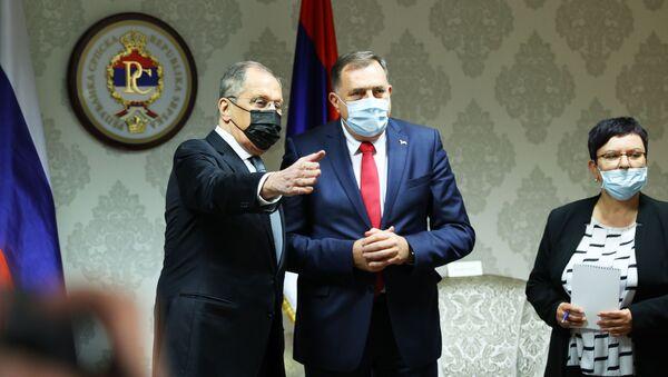 Susret Milorada Dodika i Sergeja Lavrova - Sputnik Srbija