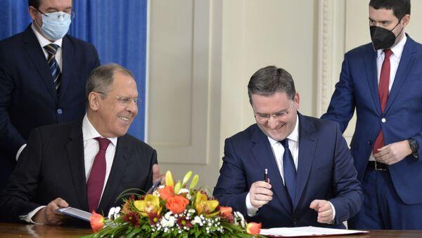 Sergej Lavrov i Nikola Selaković - Sputnik Srbija