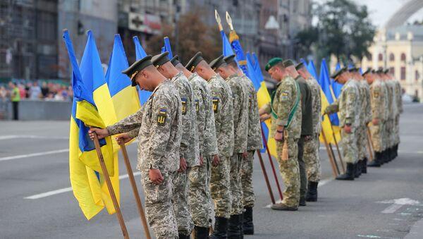 Ukrajinski vojnici na probi vojne parade u Kijevu - Sputnik Srbija