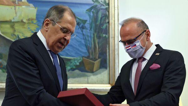 Ruski ministar spoljnih poslova Rusije Sergej Lavrov u Hrvatskoj - Sputnik Srbija