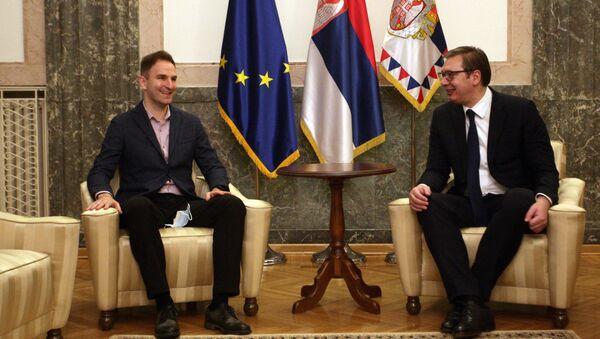 Виолиниста Стефан Миленковић и председник Србије Александар Вучић - Sputnik Србија