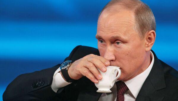 Sibirske trave – Putinovo osveženje tokom konferencije za novinare - Sputnik Srbija