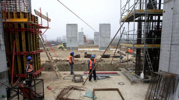Radovi na mostu preko Save kod Šapca - Sputnik Srbija