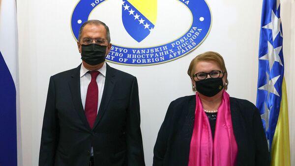Sastanak Sergeja Lavrova i Bisere Turković u Sarajevu  - Sputnik Srbija