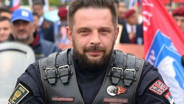 """Saša Savić, predsednik srpskog ogranka ruskog moto kluba """"Noćni vukovi"""" - Sputnik Srbija"""