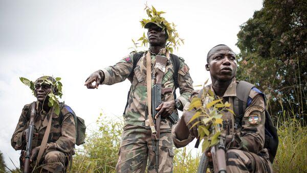 Regruti Oružanih snaga Centralnoafričke Republike tokom obuke u Bouaru - Sputnik Srbija