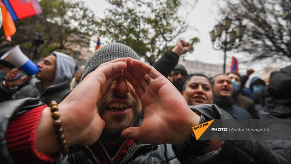 Protest opozicije u Jerevanu - Sputnik Srbija