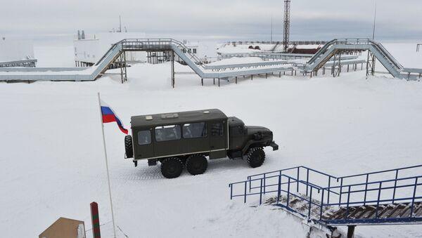 Pogranična postaja Nagursko u Arhangelskoj oblasti, na ostrvu Aleksandrina zemlja arhipelaga Zemlja Franje Josifa - Sputnik Srbija