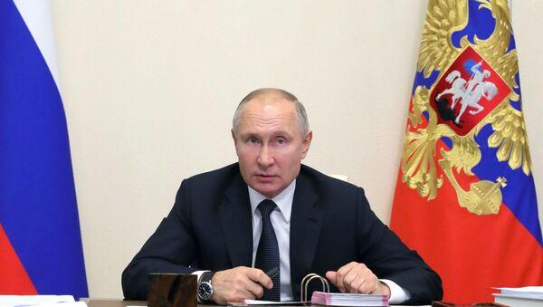 Putin dao ocenu: Vlada dosta dobro prošla tešku godinu - Sputnik Srbija