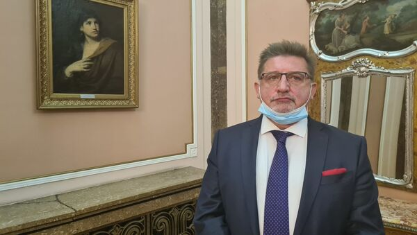 Oleg Valjerevič Laskarev, predstavnik tima ruskog vajara Aleksandra Rukavišnjikova - Sputnik Srbija