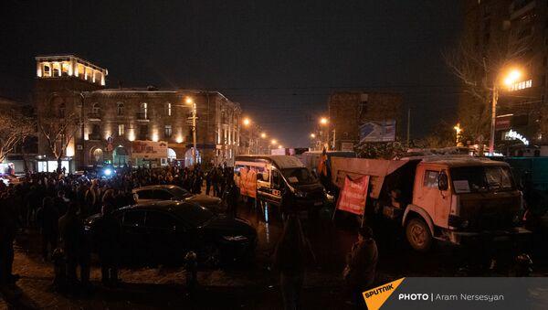 Protesti u Jerevanu, 25. decembar  - Sputnik Srbija