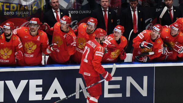 У првом плану Илја Ковалчук, руски хокејаш - Sputnik Србија