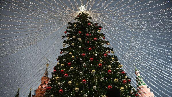 Novogodišnja jelka na trgu Manjež u Moskvi - Sputnik Srbija