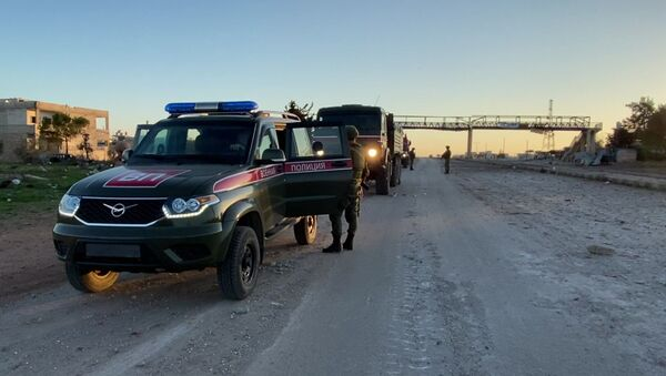 Patrola ruske vojne policije u sirijskoj provinciji Idlib - Sputnik Srbija