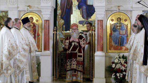 Помен патријарху Иринеју у Храму Светог Саве - Sputnik Србија