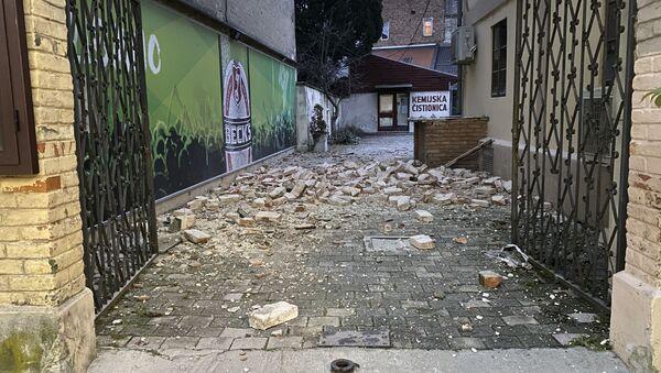 Zemljotres u Hrvatskoj, oštećenja u Sisku - Sputnik Srbija