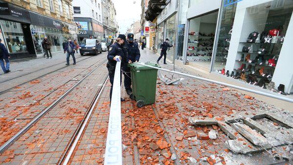 Загреб после земљотреса - Sputnik Србија
