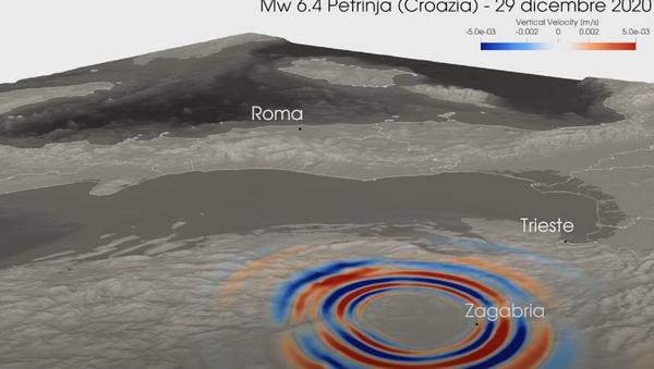 Video rekonstrukcija širenja zemljotresa u Hrvatskoj - Sputnik Srbija