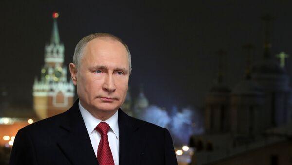 Новогодишње обраћање председника Русије Владимира Путина - Sputnik Србија