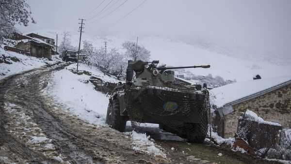 Оклопно возило руских мировних снага у Нагорно-Карабаху - Sputnik Србија