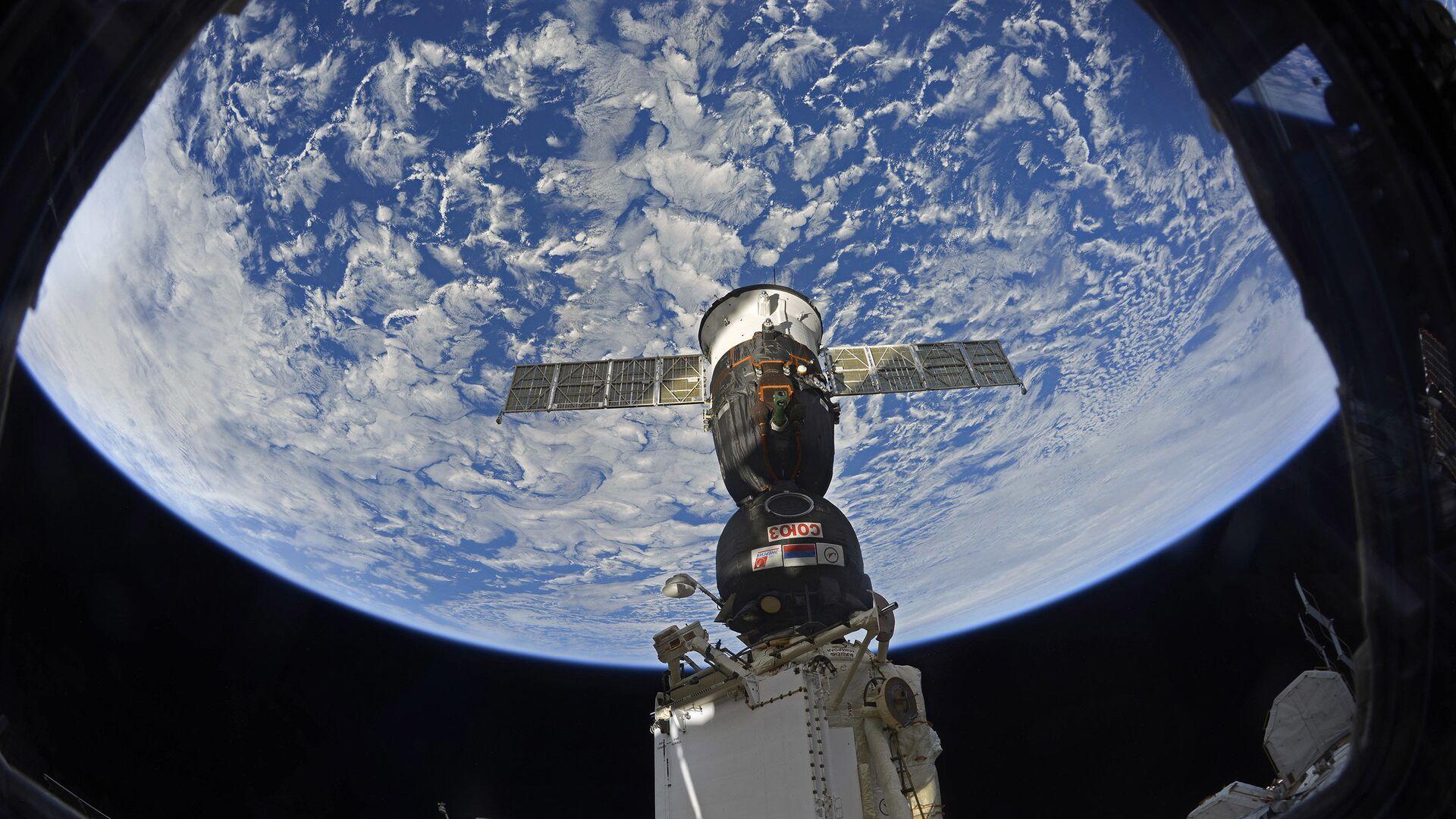 Pristajanje svemirskog broda sa posadom Sojuz MS 12 na Međunarodnu svemirsku stanicu - Sputnik Srbija, 1920, 22.02.2021