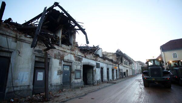 Петриња после земљотреса - Sputnik Србија
