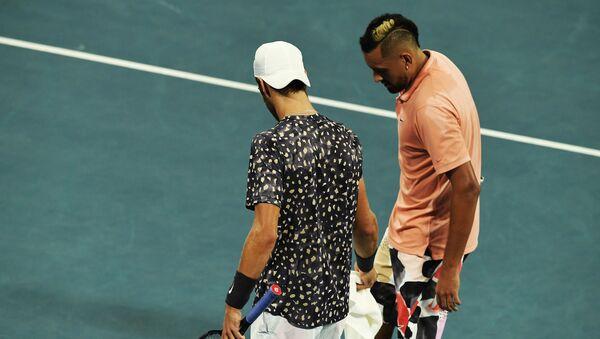 Карен Хачанов, руски тенисер, и Ник Кирјос, аустралијски тенисер - Sputnik Србија