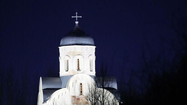 Vladimir Putin u poseti crkvi Svetog Nikole na Lipnu - Sputnik Srbija