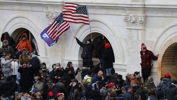 Protest u Vašingtonu i upad u Kongres - Sputnik Srbija