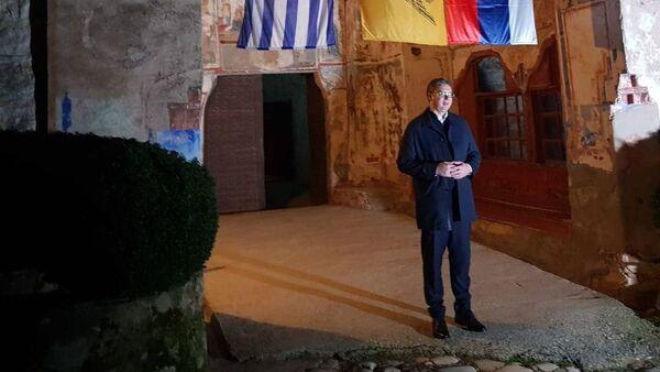Александар Вучић у Хиландару - Sputnik Србија