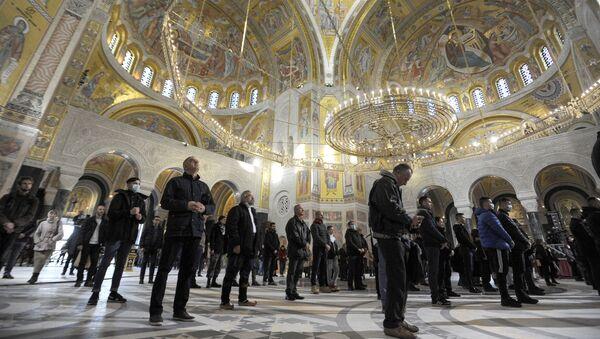 Jutarnja božićna liturgija u Hramu Svetog Save - Sputnik Srbija
