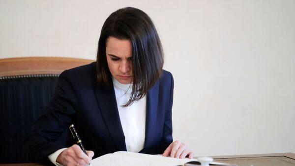 Лидер белоруске опозиције Светлана Тихановска - Sputnik Србија