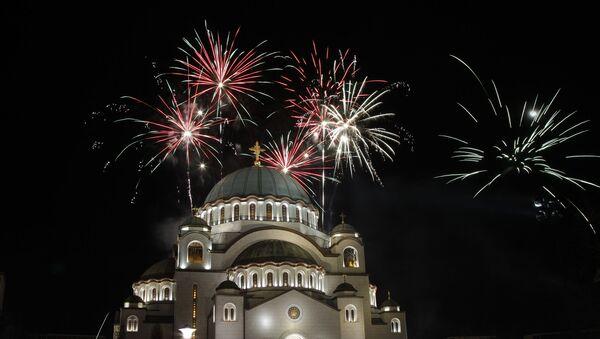 Vatromet iznad Hrama Svetog Save - Sputnik Srbija