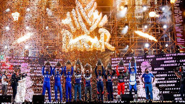 Pobednici reli maratona Dakar-2021 na ceremoniji dodele nagrada - Sputnik Srbija