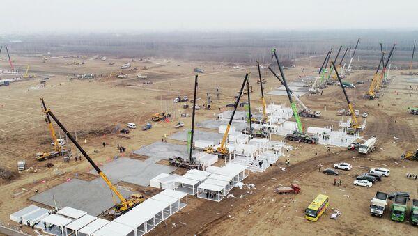 Izgradnja centra za izolaciju u kineskoj provinciji Hebej - Sputnik Srbija