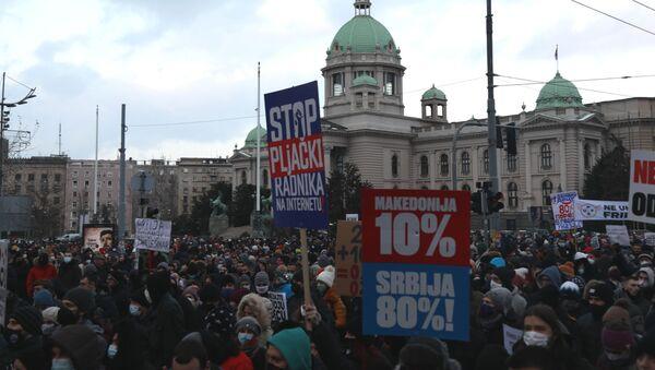 Протест фриленсера у Београду - Sputnik Србија