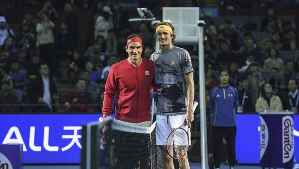 Rodžer Federer i Saša Zverev - Sputnik Srbija