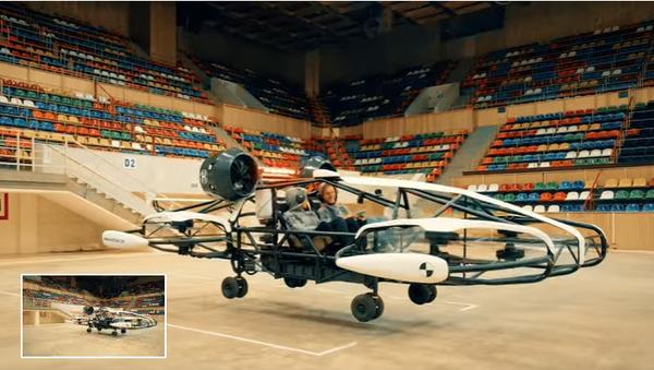 Руски летећи такси (Скриншот/Јутјуб) - Sputnik Србија