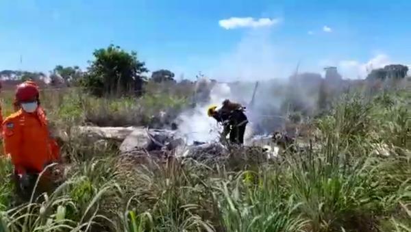 Авион фудбалера Палмаса који се срушио у Бразилу - Sputnik Србија
