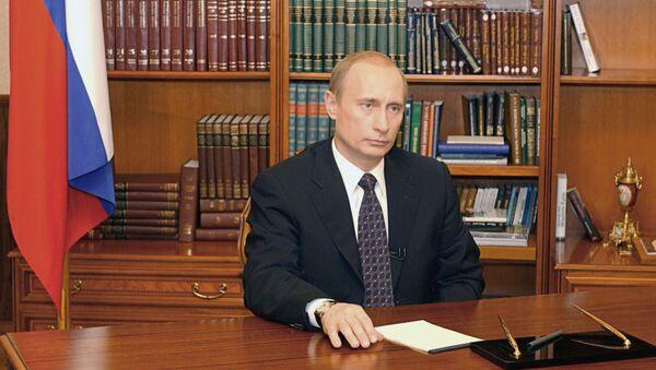 Vladimir Putin 2003. godine - Sputnik Srbija