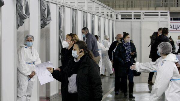 Punktovi za vakcinaciju na Beogradskom sajmu - Sputnik Srbija