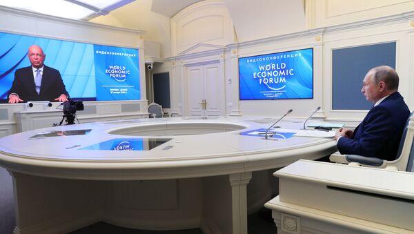 Владимир Путин на Међународном економском форуму у Давосу - Sputnik Србија
