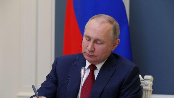 Председник Русије Владимир Путин на Међународном економском форуму у Давосу - Sputnik Србија