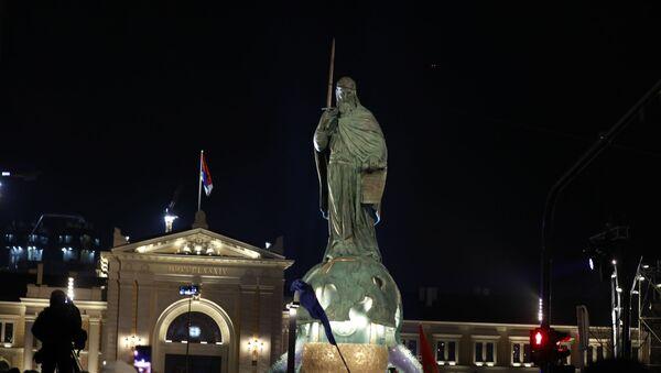 Otkrivanje spomenika Stefanu Nemanji na Savskom trgu - Sputnik Srbija